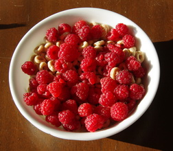 raspberries on cereal